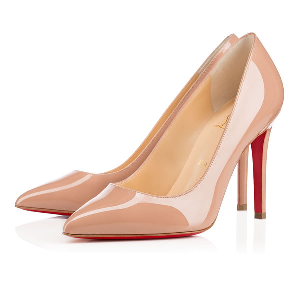 Brand New Christian Louboutin Pigalle Nude Patent 37.5
