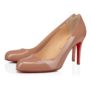 Brand New Christian Louboutin Simple Pump Nude Patent 36
