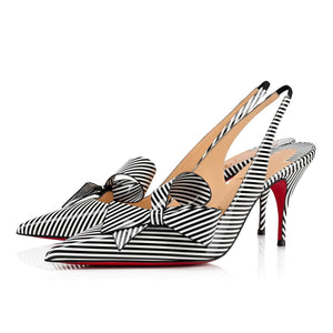Brand New Christian Louboutin Clare Nodo Stripes 37