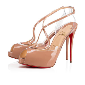 Brand New Christian Louboutin Cupidivipi Nude Patent 40