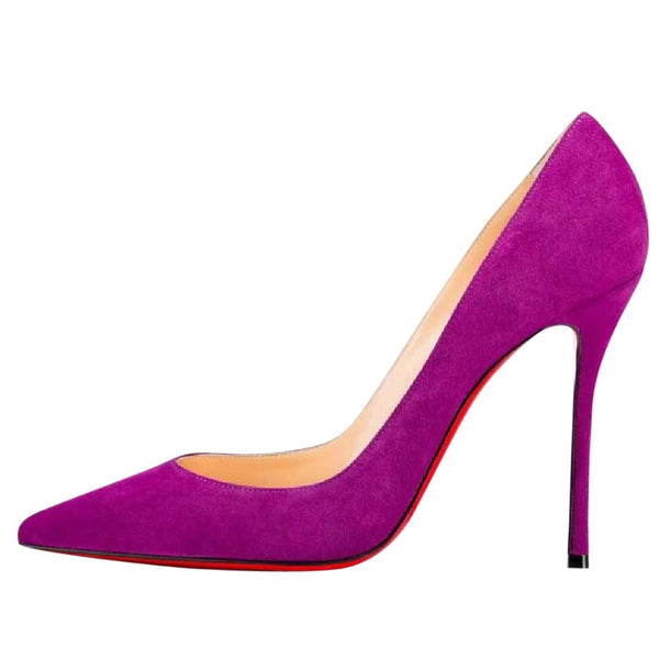 Brand New Christian Louboutin Decoltish Cassis Velours 37.5