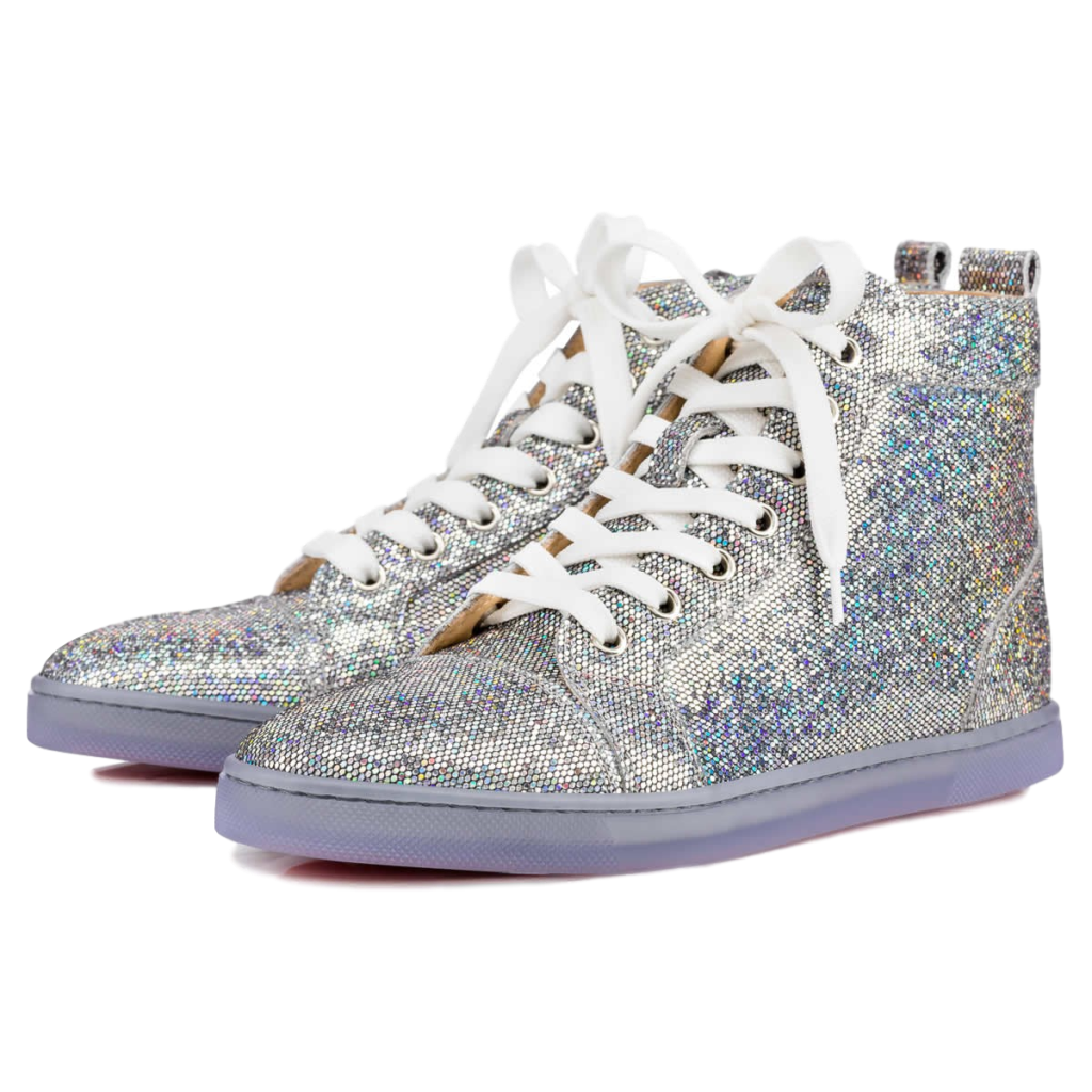 latest discount quality products shoes for cheap Christian Louboutin Bip Bip Disco Ball Sneakers 39 - Love Luxe