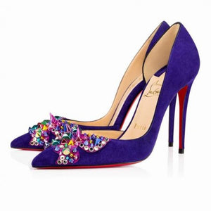 Brand New Christian Louboutin Farfaclou Embelished Pumps 40.5 (generous)