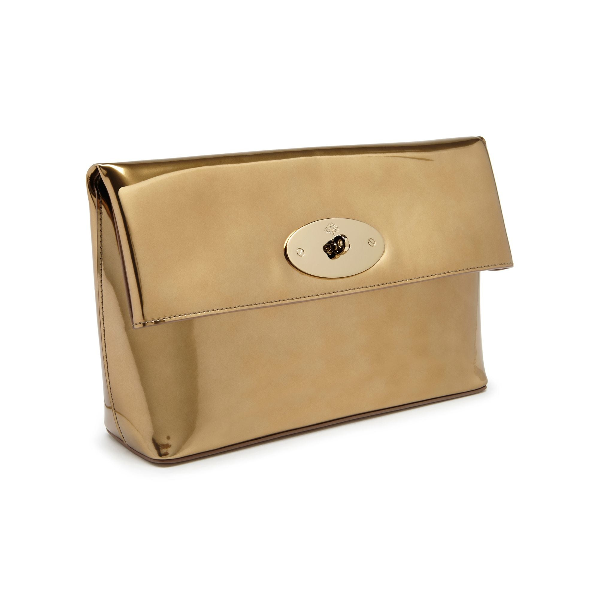 Mulberry Clemmie Clutch Gold Patent Leather - Love Luxe 0d131843d7ebd