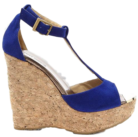 Brand new Jimmy Choo Pela Wedge Electric Blue 38
