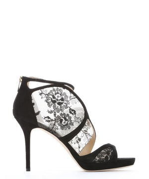 Jimmy Choo Flyte Black Lace39