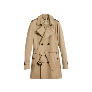 Brand New Men's Burberry Kensington Mid-Length Trench Honey