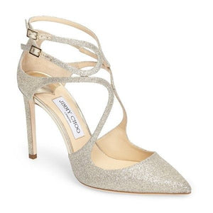 Brand New Jimmy Choo Lancer Platinum Ice 37