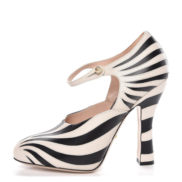 Brand New Gucci Zebra Lesley Pumps 35.5