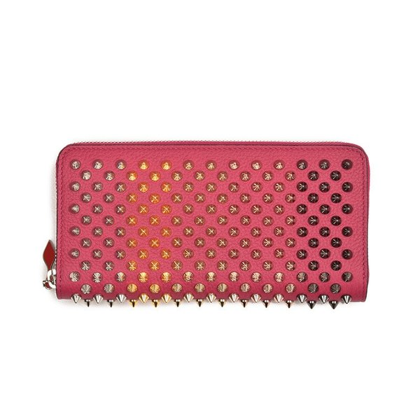 Brand New Christian Louboutin Panettone Empire Spike Wallet Pink