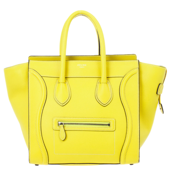Celine Mini Luggage Yellow