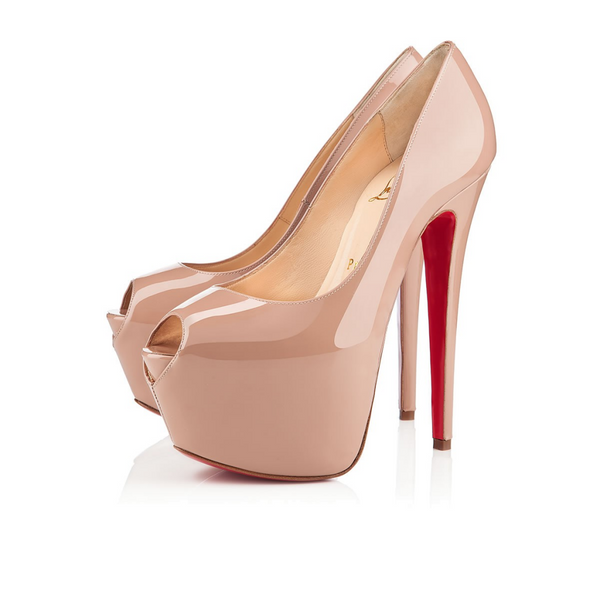 Brand New Christian Louboutin Nude Highness 39.5