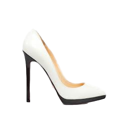 the best attitude cd6c2 a62d7 Christian Louboutin Pigalle Plato White / Black Patent 39.5