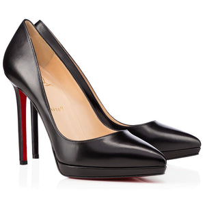 Brand New Christian Louboutin Pigalle Plato Black Kid 36