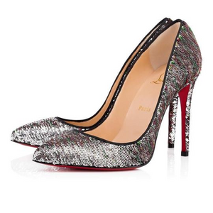 Brand New Christian Louboutin Pigalle Follies Paillettes Caresse 39