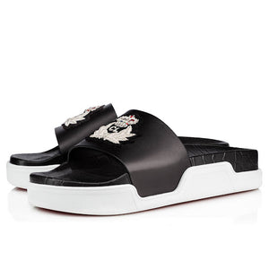 Brand New Christian Louboutin Pool Beau Donna Slides 40