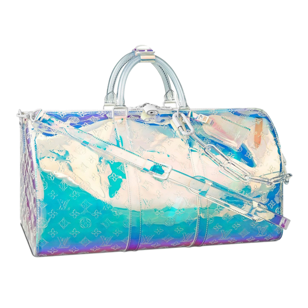 Brand Rare New Louis Vuitton Prism Keepall Bandouliere 50