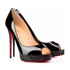 Christian Louboutin Very Prive Black Patent 39.5