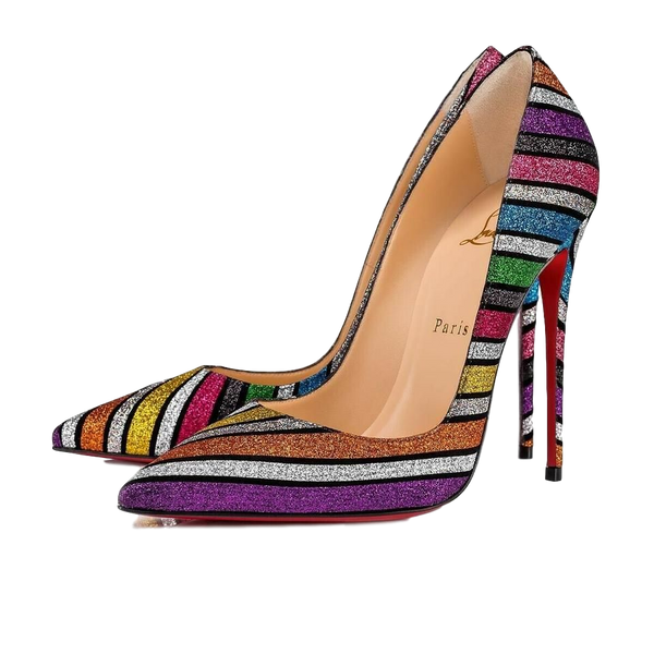 Brand New Christian Louboutin So Kate Glitter Stripe 38