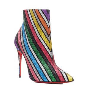 Brand New Christian Louboutin So Kate Booty Glitter Stripe 36