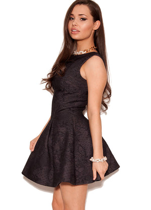 House of CB (Celeb Boutique) Skater Dress Black Size 6-8 UK