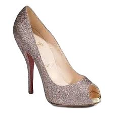 Brand New Christian Louboutin Mini Titi Glitter Pumps 40