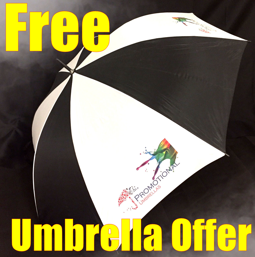 FREE Printed Promotional Umbrellas