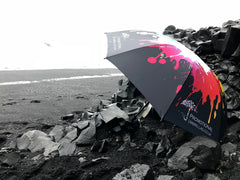 The Atlantic Storm Golf Umbrellas in southern Iceland