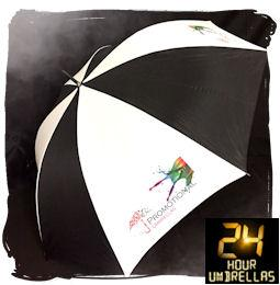 24 HOUR PACKAGE 1 - Susino Golf Fibre Light Umbrella - PRINTED WHITE PANEL ONLY