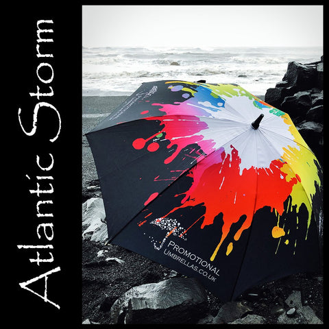 Atlantic Storm Golf Umbrella - FULL CANOPY PRINT - THE ULTIMATE