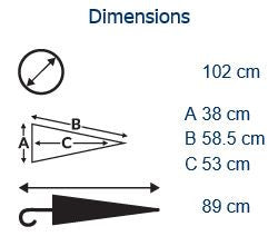 Auto City Classic Deluxe Umbrella Dimensions