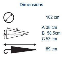 Auto City Classic Umbrella Dimensions