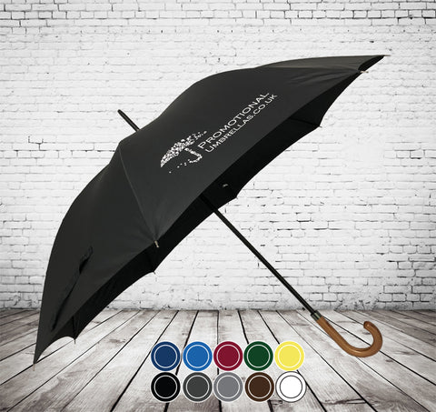 Automatic Corporate Gents Walking Umbrella - HIGH QUALITY - BIGGER CANOPY - As low as £11.30 each