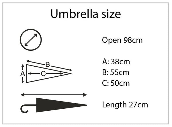 Atlantic Folding Deluxe Umbrella Dimensions