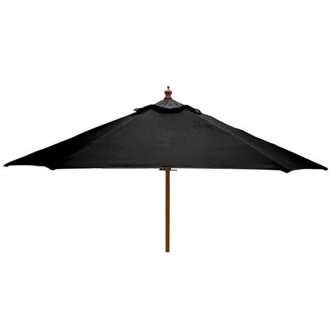 Windsor 2 metre round wooden printed parasol side