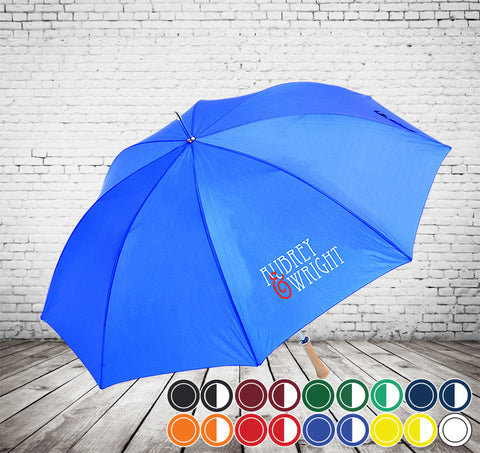 Budget Golf Umbrella - CHEAPEST GOLF UMBRELLA - As low as £5.95 each Printed & Delivered