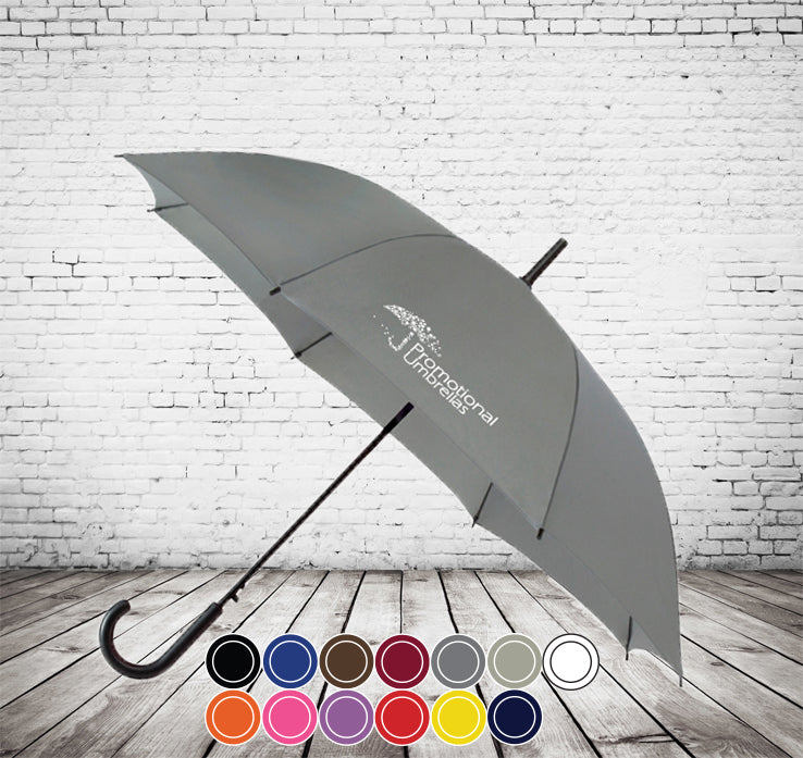 City Commuter Crook Handle Umbrella -VALUE, MODERN, COLOUR CHOICE - As low as £5.41 each