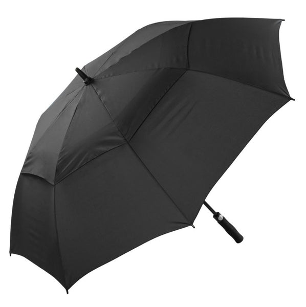 Cyclone Auto Vented Golf Umbrella - The black version of the popular promotional umbrella