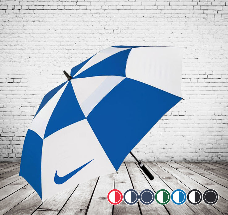 Cyclone Auto Vented Golf Umbrella - VERY HIGH QUALITY - BEST SELLER - As low as £13.35 each Printed & Delivered