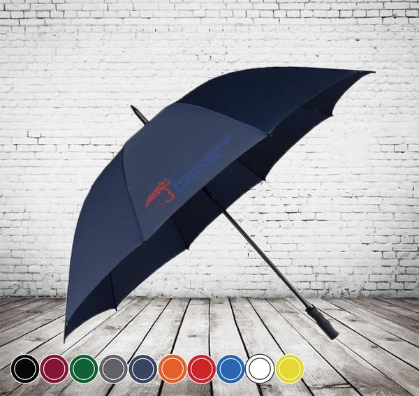 Deco Storm Golf Umbrella - STORMPROOF - OUTSTANDING VALUE - As low as £11.49 each Printed & Delivered
