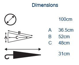 Gents Corporate Folding Umbrella Dimensions