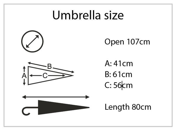 Inside Out Umbrella Dimensions