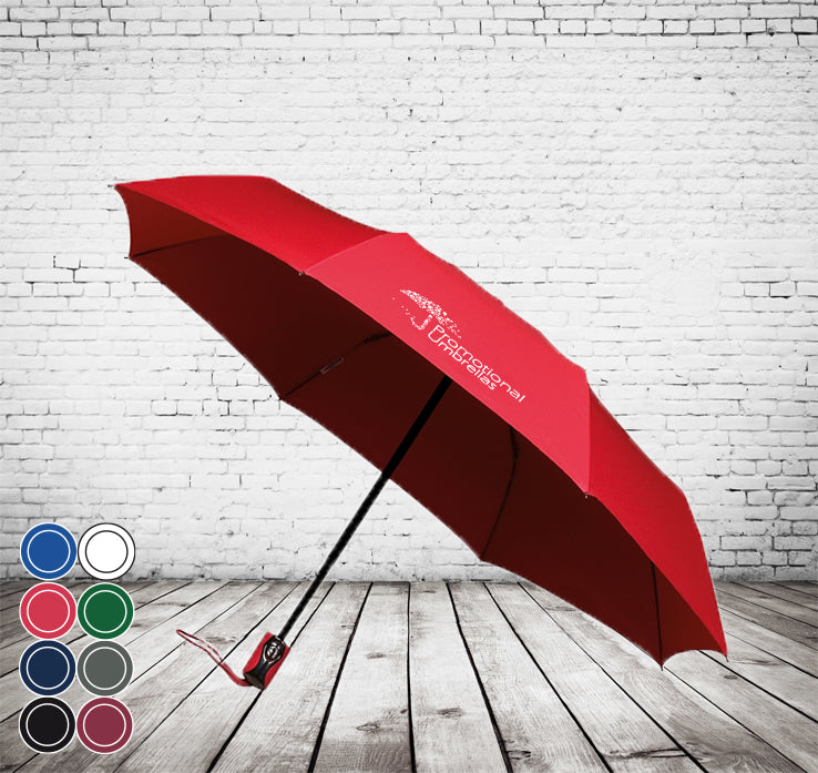 Mini Sports Auto Folding Deluxe Umbrella - HIGHEST QUALITY UK, AUTO OPEN/CLOSE- As low as £8.50 each