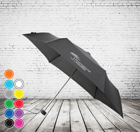Mini Sports Micro Folding Umbrella - SMALLEST UMBRELLA, SURPRISINGLY ROBUST, SLEEK DESIGN - As low as £6.13 each