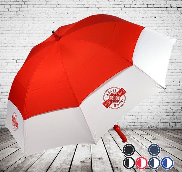 ProBrella Vented Golf Umbrella  - HIGHEST QUALITY UK - BESPOKE COLOURS - As low as £14.77 each Printed & Delivered