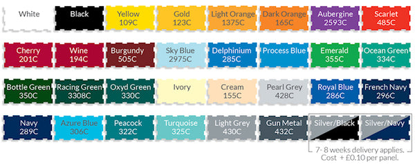 ProBrella Mini Golf Umbrella Stock Panel Colour Options