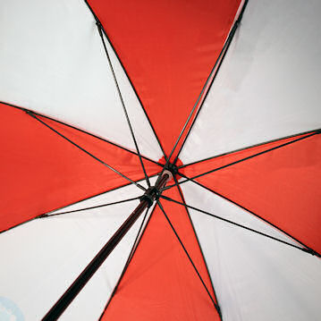 Susino Golf Fibre Light Umbrella- The inside of the cheapest stromproof promotional umbrella