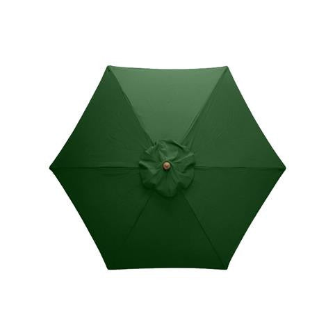 Windsor 2.5 metre round wooden printed parasol overhead