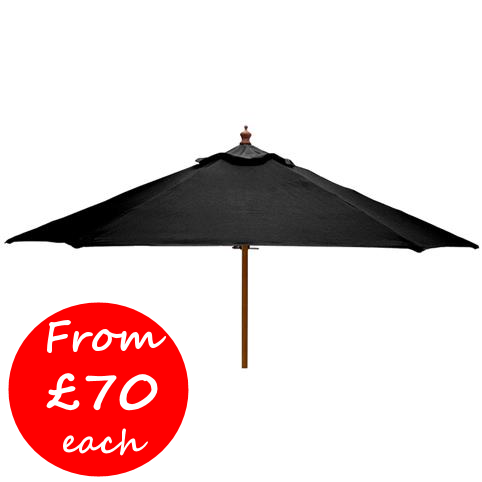 Windsor 2.5 metre round wooden printed parasol price