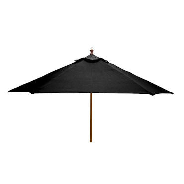 Windsor 3 metre round wooden printed parasol black